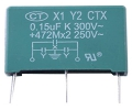X1Y2 Film Capacitors